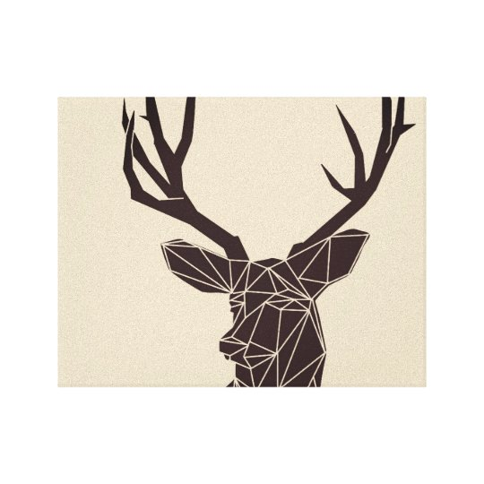 Geometric Woodland Animals | Deer Canvas Print