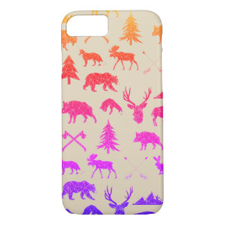 Geometric Woodland Animals | iPhone 7 Case
