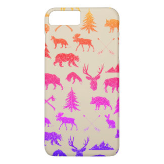 Geometric Woodland Animals | iPhone 7 Plus Case