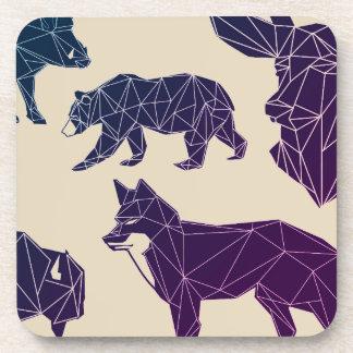 Geometric Woodland Animals | Set of 6 Coasters