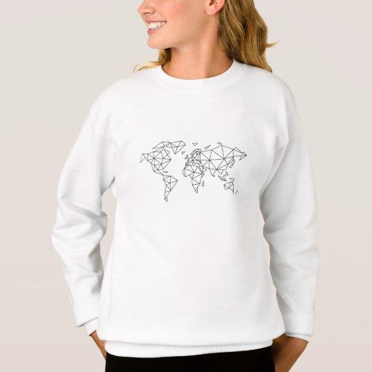 Geometric world map sweatshirt