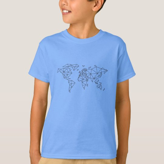 Geometric world map T-Shirt