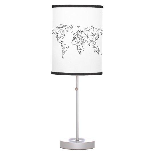 Geometric world map table lamp