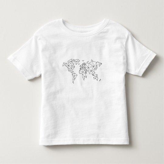 Geometric world map toddler t-shirt