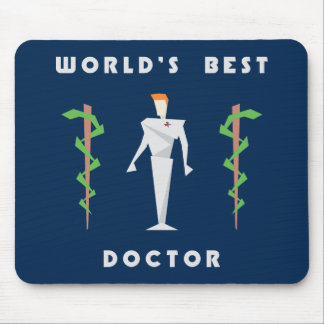 Geometric World's Best Doctor Mouse Pad