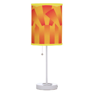 Geometric Yellow and Red Table Lamp