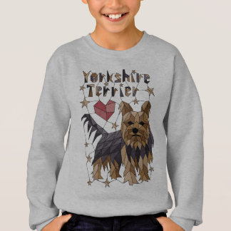 Geometric Yorkshire terrier Sweatshirt