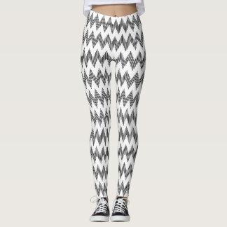 Geometric zigzag pattern 2 leggings