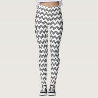 Geometric zigzag pattern leggings