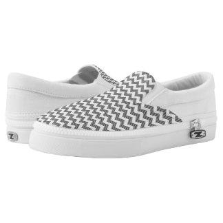 Geometric zigzag pattern Slip-On sneakers