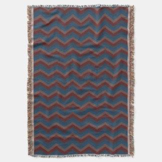 Geometric ZigZag Throw Blanket Old School Colors