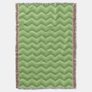 Geometric ZigZag Throw Blanket Shades of SageGreen