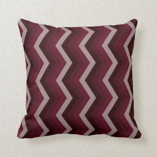Geometric ZigZag Throw Pillow Shades of Burgundy