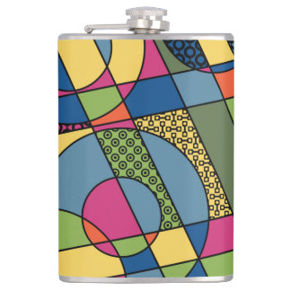Geometrical Abstract in 2017 Spring Color Palette Hip Flask
