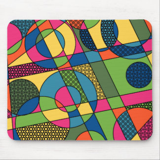 Geometrical Abstract in 2017 Spring Color Palette Mouse Pad