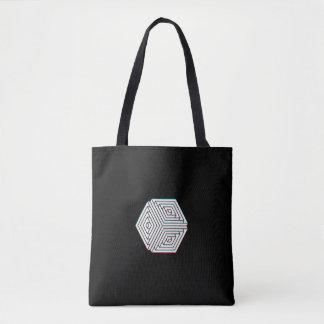 Geometrical Black Tote Bag
