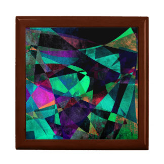 Geometrical, Colorful, Grungy Abstract Art Gift Box