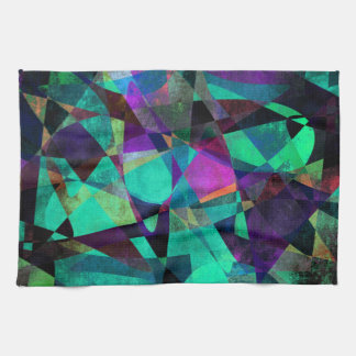 Geometrical, Colorful, Original Abstract Art Kitchen Towel