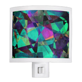 Geometrical, Colorful, Original Abstract Art Night Lites