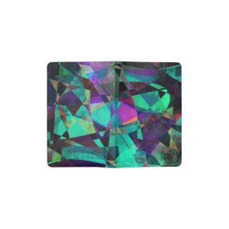 Geometrical, Colorful, Original Abstract Art Pocket Moleskine Notebook