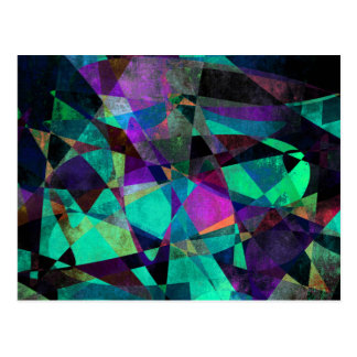 Geometrical, Colorful, Original Abstract Art Postcard