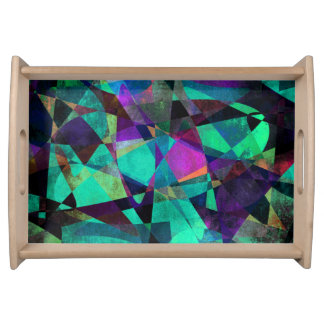 Geometrical, Colorful, Original Abstract Art Serving Tray
