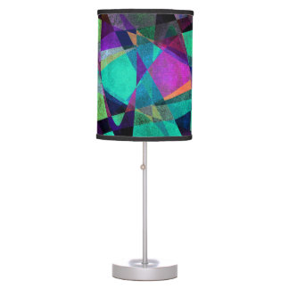 Geometrical, Colorful, Original Abstract Art Table Lamp