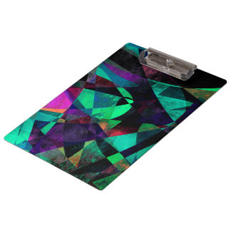 Geometrical, Colorful, Textured Abstract Art Clipboard