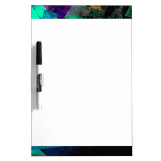 Geometrical, Colorful, Textured Abstract Art Dry Erase Board