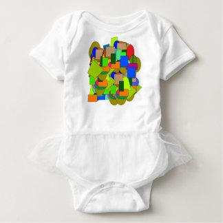 geometrical figures baby bodysuit