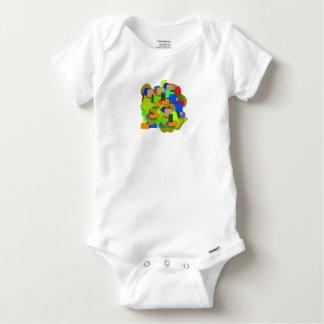 geometrical figures baby onesie
