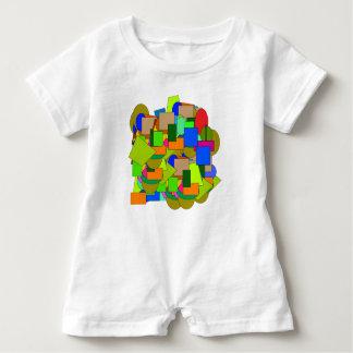 geometrical figures baby romper