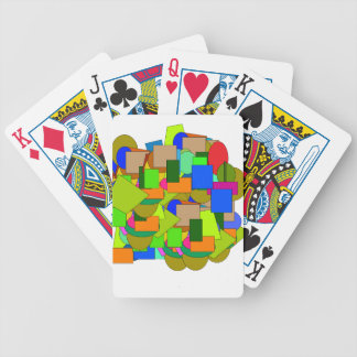 geometrical figures bicycle playing cards