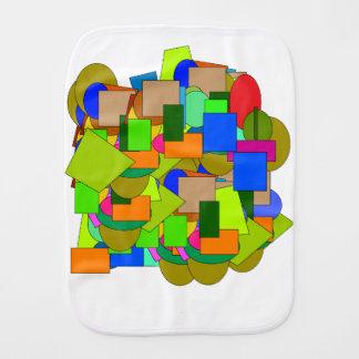 geometrical figures burp cloth