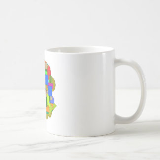 geometrical figures coffee mug