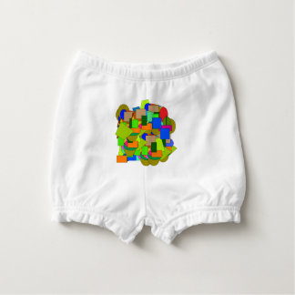 geometrical figures diaper cover
