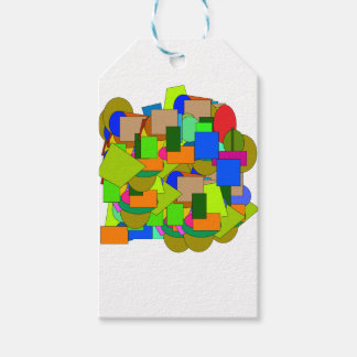 geometrical figures gift tags