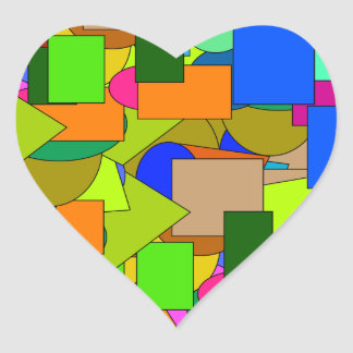 geometrical figures heart sticker