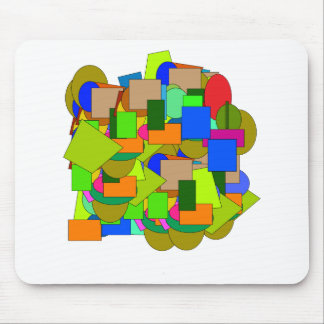 geometrical figures mouse pad