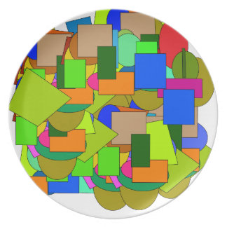 geometrical figures plate