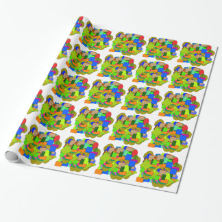 geometrical figures wrapping paper