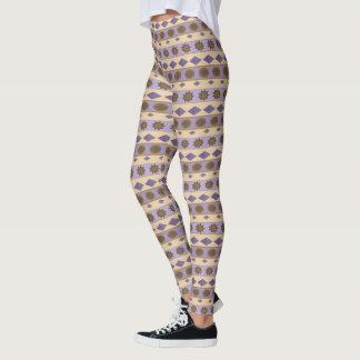 Geometrical Horizontal Stripes and Symbols Leggings