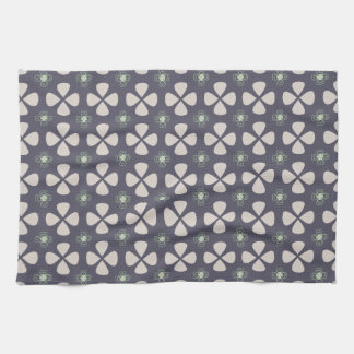 Geometrical lucky clovers pattern kitchen towel