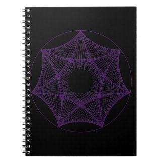 Geometrical Purple Star Notebook