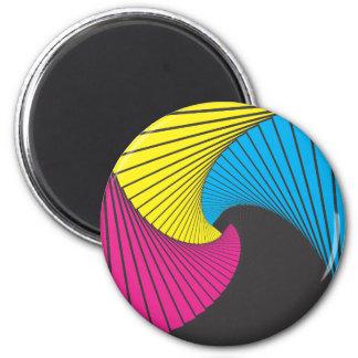 Geometrics #1 CmyK 2 Inch Round Magnet