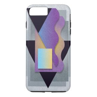 Geometrics on smoky stone, blue-yellow crest iPhone 8 plus/7 plus case