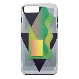 Geometrics on smoky stone, magenta-yellow crest iPhone 8 plus/7 plus case