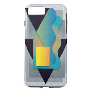 Geometrics on smoky stone, yellow-orange crest iPhone 8 plus/7 plus case