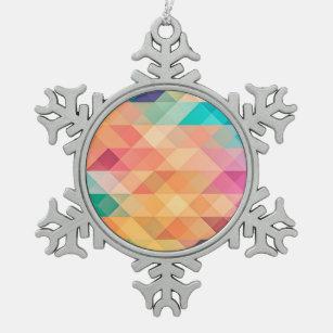 Geometries Snowflake Pewter Christmas Ornament