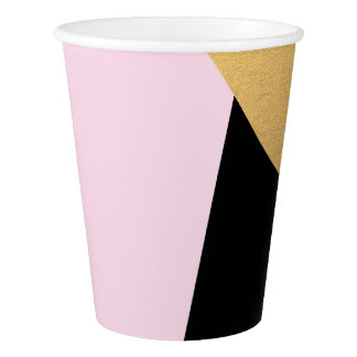 Geometry Black Gold Aqua Mint Tiffany Lilac Pink Paper Cup